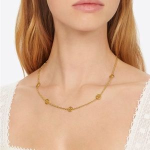 NWOT Tory Burch Delicate Logo Necklace
